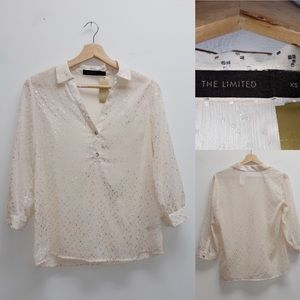 The limited Cream Sheer Top XS